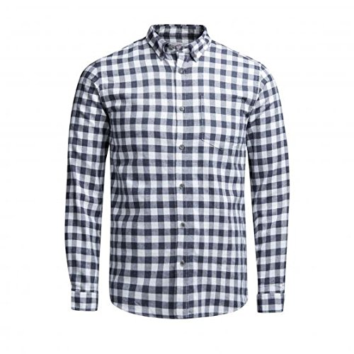 JACK & JONES JORWILLIAM SHIRT LS, Camicia Uomo, Bianco (Cloud Dancer), Medium