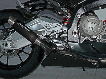BODIS: スリップオンマフラー ステンレス ブラック GP1-R for S1000RR(10-)