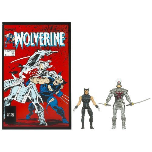 Marvel Universe Wolverine and Silver Samurai Figure Comic Pack 4 Inches by Hasbro (English Manual)