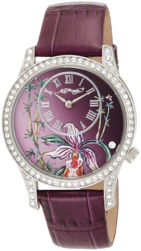 Ed Hardy Women's EL-PU Elizabeth Purple Watch