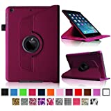 Fintie Apple iPad mini 2 with Retina Display Rotating Case - 360 Degree Rotating Vegan Leather Multi Angle Stand Smart Cover Auto Wake / Sleep - Purple