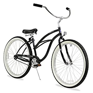"Firmstrong Urban Lady Single Speed - Women's 26"" Beach Cruiser Bike (Black)"