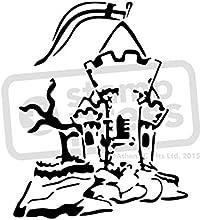 A5 Castle Wall Stencil  Template WS00002556