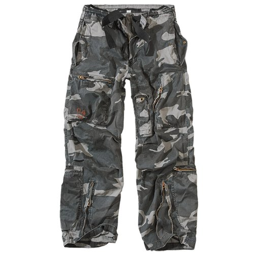 Surplus US Infantry Cargo Mens Trousers Work Pants Night Camo