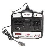 GoolRC 4CH チャンネル USB 3D RCヘリコプターフライトシミュレーター