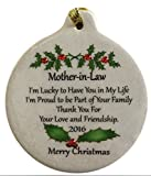 Mother-in-law Porcelain 2016 Ornament Rhinestone Crystal Mom