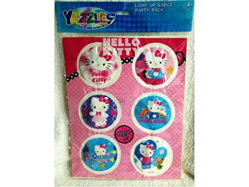 Party Favors Hello Kitty Birthday Party Favors for Girls 6 Light up Sticker Badge Party Pack - 1