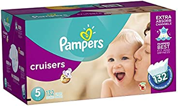 Pampers Cruisers Diapers Size-5 Economy Pack Plus, 132-Count