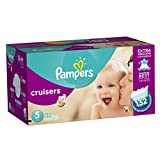 Pampers Cruisers Diapers Size-5 Economy Pack Plus, 132-Count- Packaging May Vary