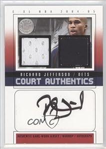Richard Jefferson #10 30 New Jersey Nets (Basketball Card) 2004-05 E-XL Court...