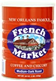 French Market Coffee & Chicory, Medium-Dark Roast, Creole Roast, 16-Ounce Cans (Pack of 3)