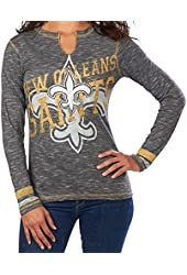 New Orleans Saints Women's Majestic NFL Gameday Gal VI Long Sleeve Shirt