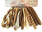 16 Pcs Clasp Free Assorted Colors Pony Tail Holders, Hair Accessories