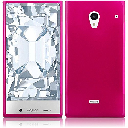 Sharp Aquos Crystal 306SH Case, Slim Fit Soft Rubber Candy Skin (TPU) Gel Jelly Cover by MEGATRONIC - Hot Pink [With FREE Touch Screen Stylus Pen] (Sharp Crystal Phone Case compare prices)