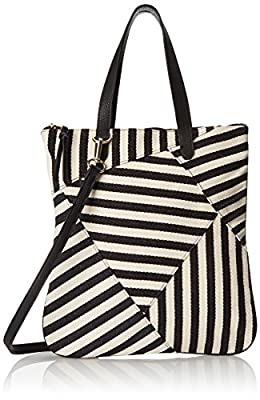 POVERTY FLATS by rian Striped Handheld Shoulder Bag