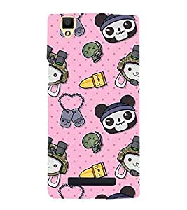ANAIMATED CARTOONS IN A PINK BACKGROUND 3D Hard Polycarbonate Designer Back Case Cover for Oppo F1