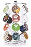 K-cup Coffee Pod Storage spinning Carousel Holder - 24 ct, Chrome