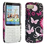 For Nokia C3-01 New Butterfly Printed Plastic Hard Shell Protective Back Fits Skin Case Cover By CONTINENTAL27