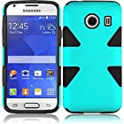 TealOnBlack Double Protection Hi-Tech DURABLE Two in One Hard and Silicon Cover Case for Samsung Galaxy Ace Style S765C (by Tracfone , Straight Talk) with Free Gift Reliable Accessory Pen