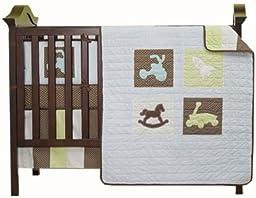 Kidsline Mod Pod Pop Toys 4-Piece Crib Bedding Set