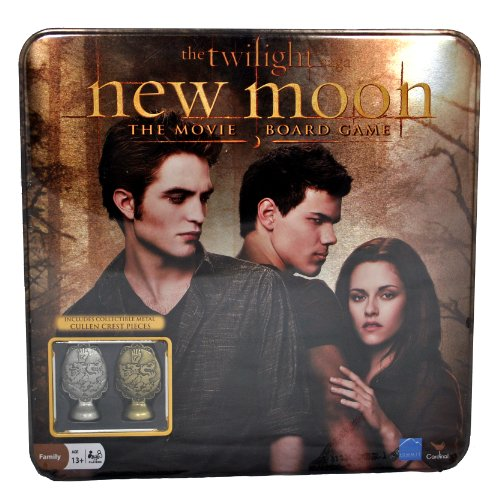 "Cardinal The Twilight Saga Movie Series ""NEW MOON"" Board Game with Collectible Metal Cullen Crest Pieces"