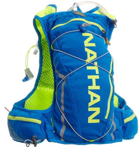 Nathan Vaporcloud 2-Liter Hydration Vest, Electric Blue/Safety Yellow, Small/Medium