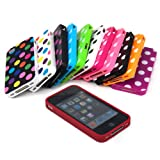 #1: TRIXES Polka Dots Series Soft Gel Case Cover Skin for Apple iPhone 4 4S 4G