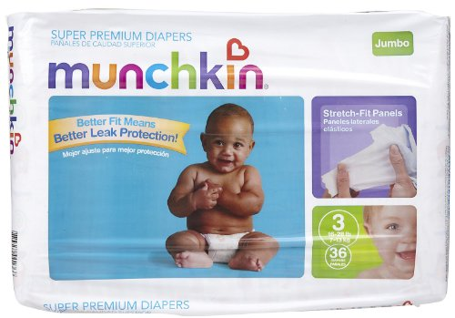 Munchkin Diapers - Size 3 - 36 ct - 1