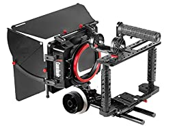 CAMTREE KIT-100 Fort Camera Cage with Camshade Matte Box and HS-1000 Follow Focus (C-Kit-100)