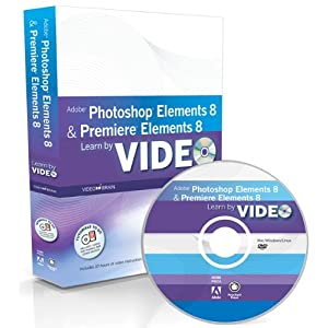 eBook Cover für  Learn Adobe Photoshop Elements 8 and Adobe Premiere Elements Book amp DVD