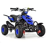 FunBikes Kids Mini Quad Bike 49cc 50cc Petrol Quad - Ride On ATV Midi (Blue)