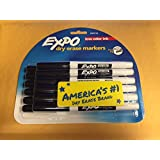 Expo Low Odor Dry Erase Markers, Fine Point, Black Ink, Pack of 12 (1905754)