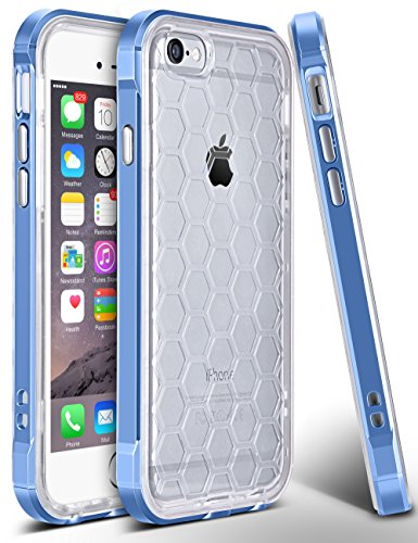 iPhone 6s Plus Case, GeekZone Impact Resistant Dual Layer Protective Flexible Shockproof Rubber Football Shaped TPU + Anti-scratch Hard PC Frame Case for Apple iPhone 6/6s Plus (Blue) (Hello Kitty Iphone 6 Car Charger compare prices)