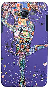 Print Haat Plastic Back Case for Samsung Galaxy J5 (Abstract-176)