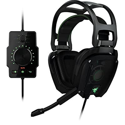 Razer Tiamat Elite 7.1 Surround Sound Analog Gaming Headset RAZER TIAMAT ELITE 7.1 SURROUND SOUND ANALOG GAMING HEADSET Surround - Mini-phone - Wired - 32 Ohm - 20 Hz - 20 kHz - Over-the-head - Binaural - Ear-cup - 9.84 ft Cable - Noise Filtering Micropho