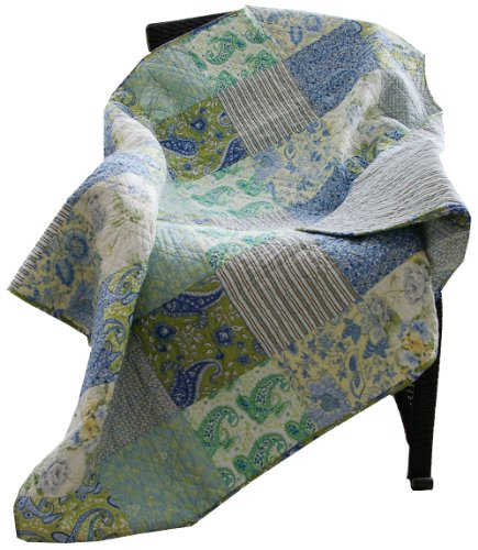 Read About Greenland Home Vintage Jade Quilted Patchwork Throw