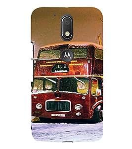 PrintVisa Travel London Bus Design 3D Hard Polycarbonate Designer Back Case Cover for Motorola Moto G4 Plus