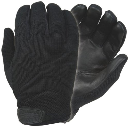 Damascus MX30 Interceptor X Unlined Gloves with Leather Palms, Black, Small