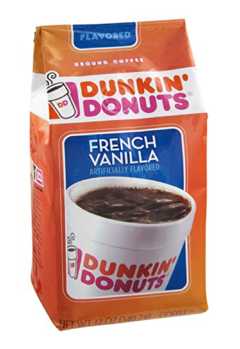 Dunkin' Donuts French Vanilla Ground Coffee 12 Oz (Pack Of 12)
