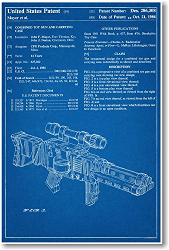 Star wars jedi blaster carrying case patent new famous invention star wars jedi blaster carrying case patent new famous invention blueprint poster malvernweather Choice Image