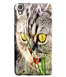 Omnam Cat Face Ugly Looks Printed Designer Back Cover Case For HTC Desire 820