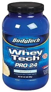 BodyTech - Whey Tech Pro 24 Vanilla, 2.07 lb powder