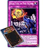 YuGiOh : LTGY-EN078 1st Ed High Tide on Fire Island Common Card - ( Lord of Tachyon Galaxy Yu-Gi-Oh! Single Card )