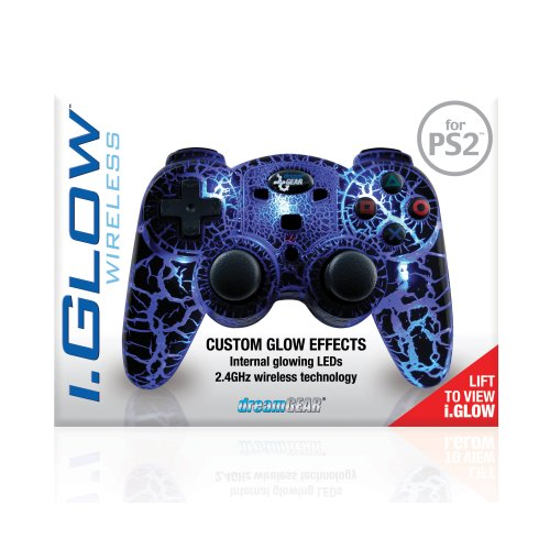 PS2 i.Glow 2.4 GHZ Wireless Controller with 5 built in LED's (Without Rumble)