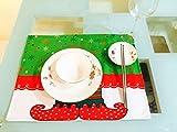 デスクマット クリスマス 2枚セット 飾り デコレーション ディナー パーティー レストラン 贈り物 おしゃれ かわいい Yosoo