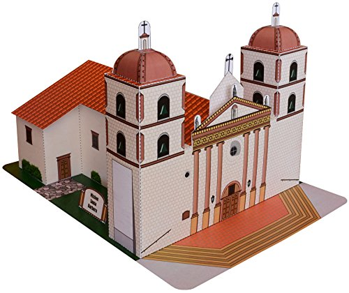 California Mission Santa Barbara Large Model (Santa Barbara Mission Model compare prices)