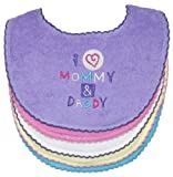 I Love Mommy and Daddy Bibs, 5 Pack, Girl, Frenchie Mini Couture