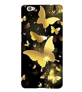 Golden Butterflies 3D Hard Polycarbonate Designer Back Case Cover for Gionee S6