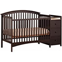 Stork Craft Bradford 4 in 1 Fixed Side Convertible Crib Changer (Espresso)