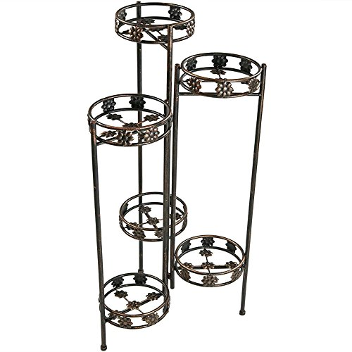 Sunnydaze 6 Tiered Folding Plant Stand 45 Inches Tall